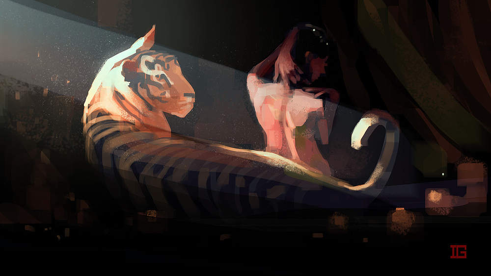 Ariadne And The Tiger - Personal Work