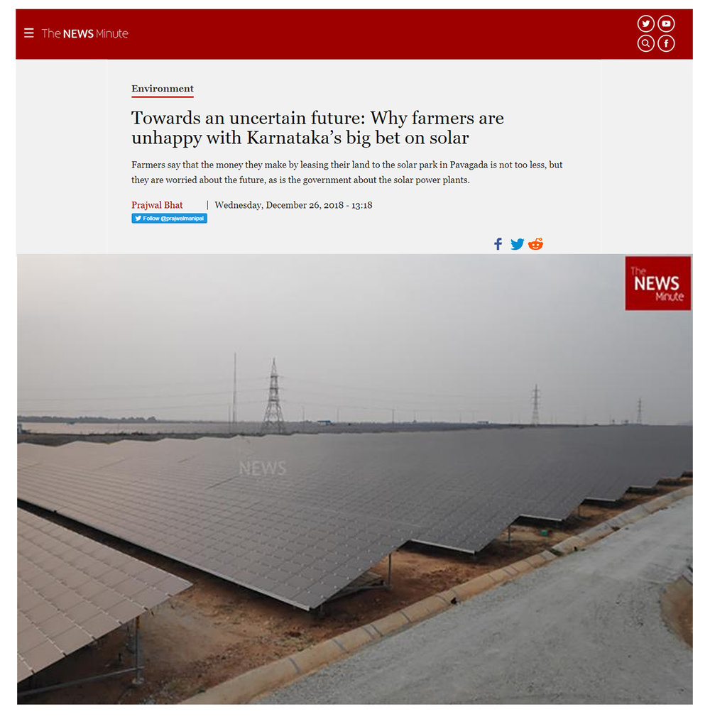 Farmers say that the money they make by leasing their land to the solar park in Pavagada is not too less, but they are worried about the future, as is the government about the solar power plants.