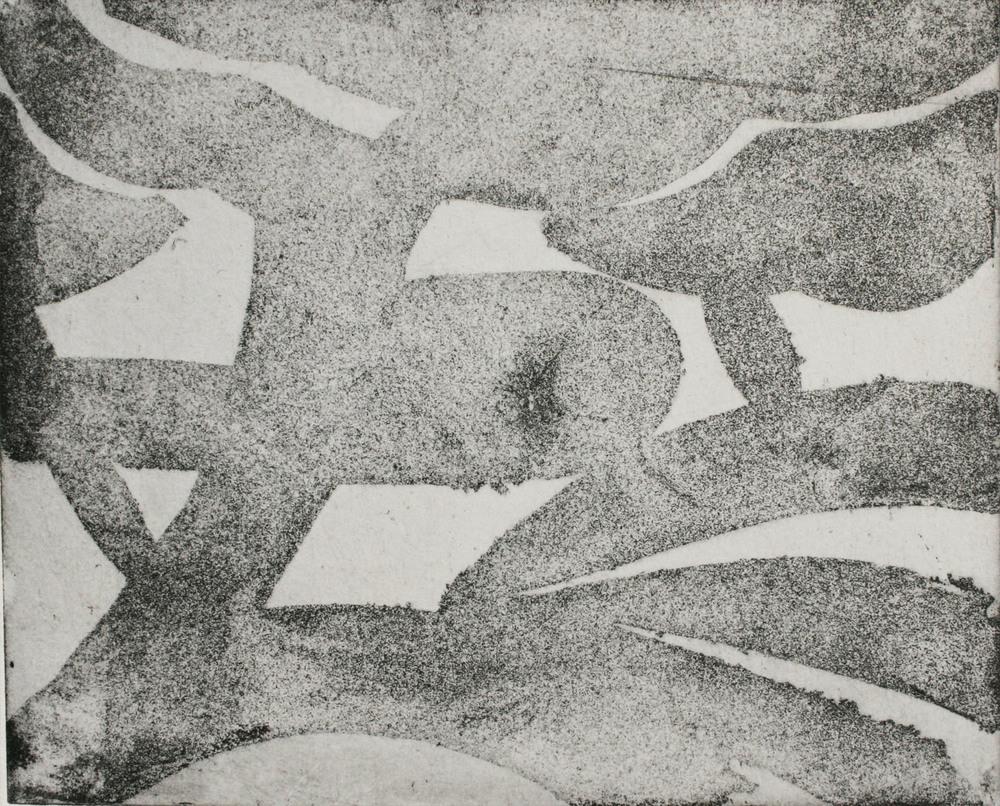 Park shadows sugar lift etching