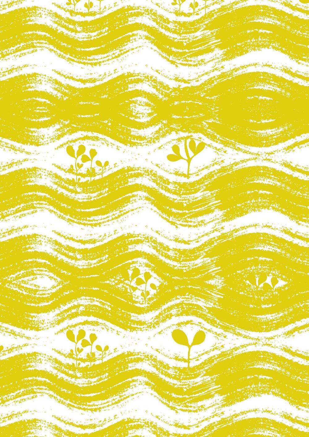 Yellow garden screen print