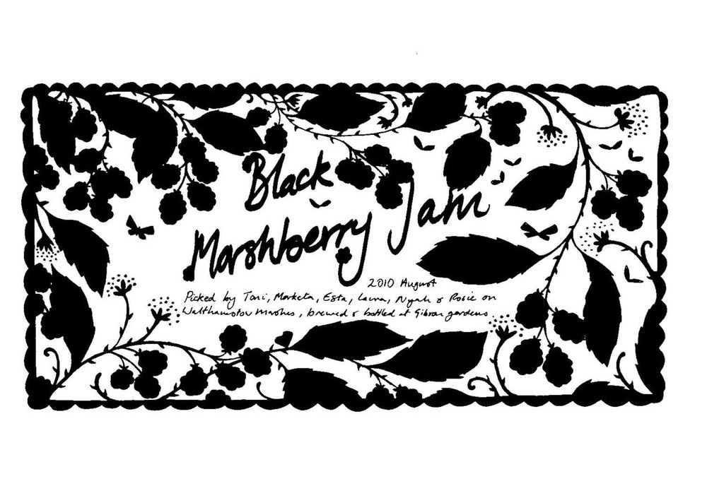 Blackberry jam label