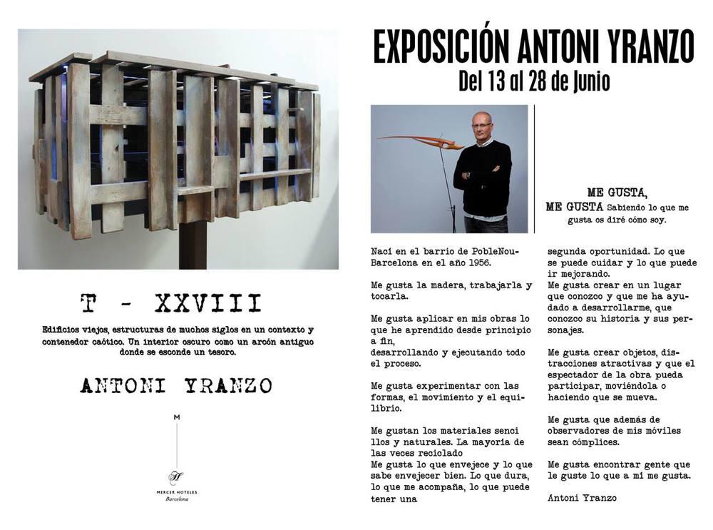 exposición Antoni Yranzo en Hotel Mercer