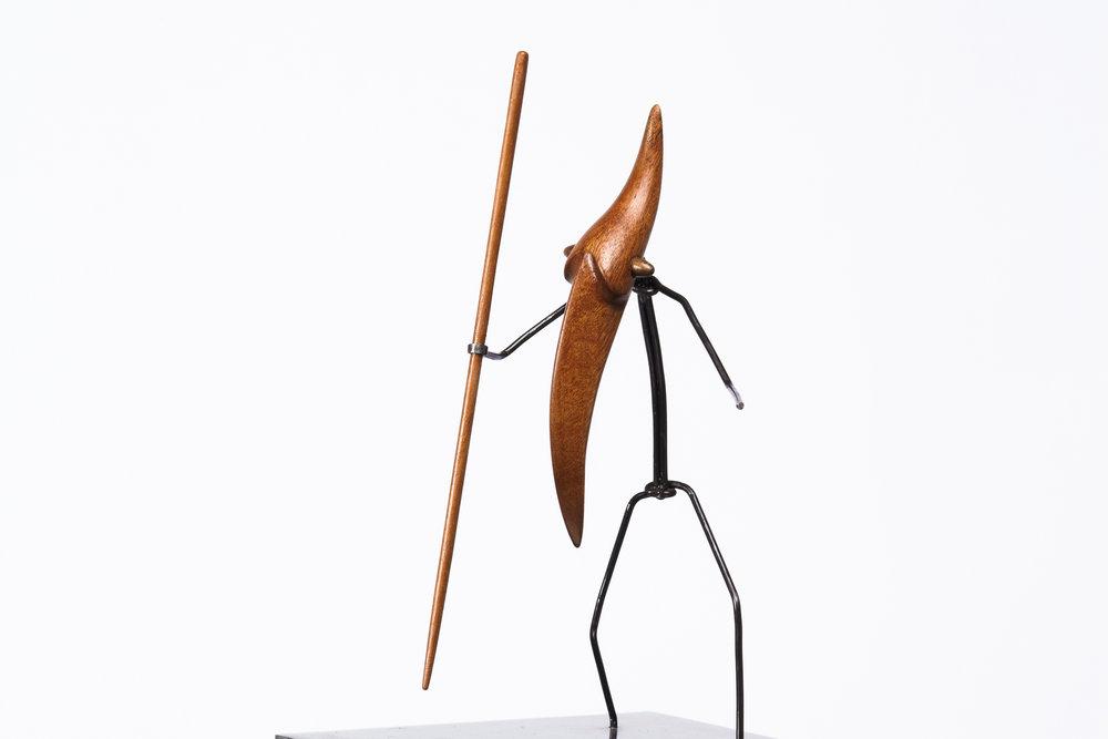 Escultura con personajes Otoko titulada –Mentiras esfuerzos-, creada por Antoni Yranzo en el año 2010 en su estudio-taller de Barcelona