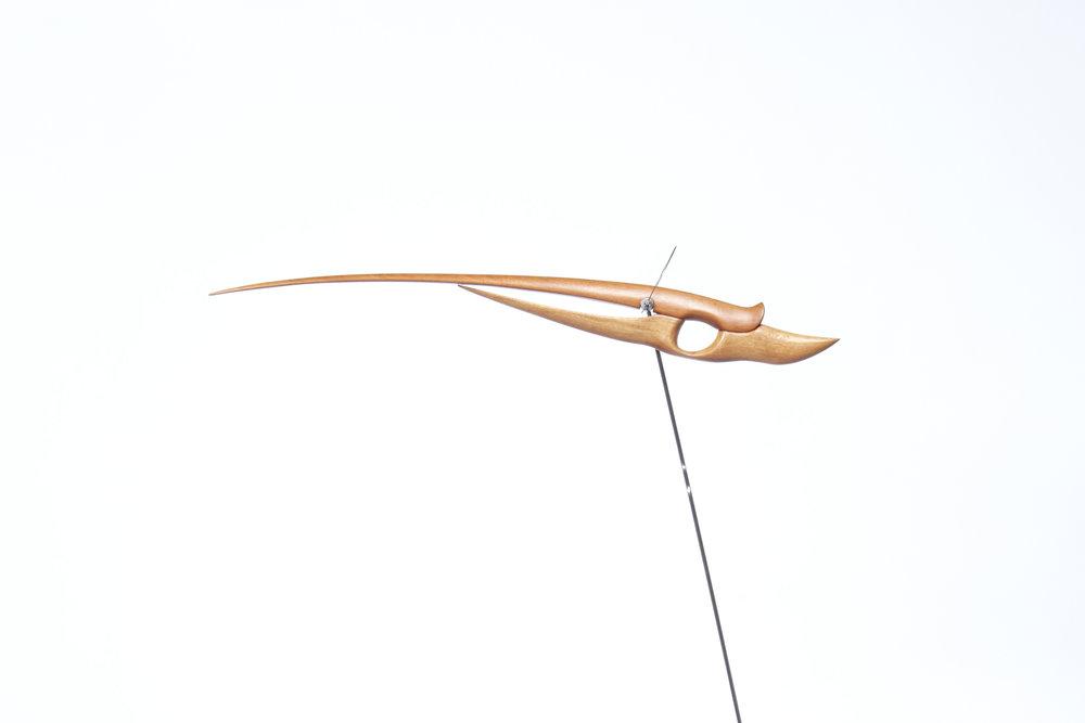 Escultura estática de madera de cedro, creada por Antoni Yranzo en el año 2006 en su estudio-taller de Barcelona