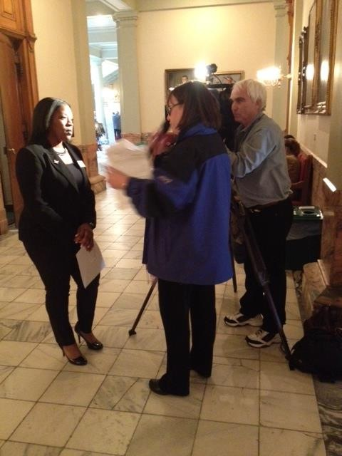 Interview with the news about legislation Representative Neal proposed