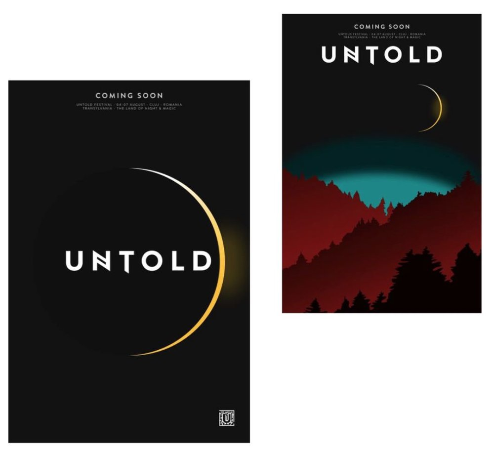 Untold posters anticipating the new edition of the festival