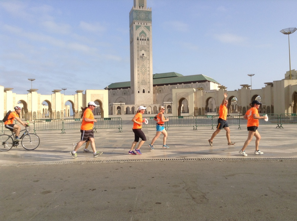 Running in Casablanca, Mohammed V Mosque, August 2015