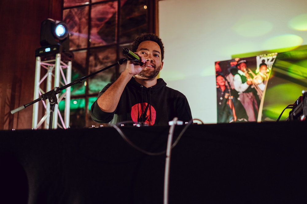 I'm a huge Taylor McFerrin fan. He kicked off his session with live beats with Marcus Gilmore on the drums. Playing some of my favorite jams.