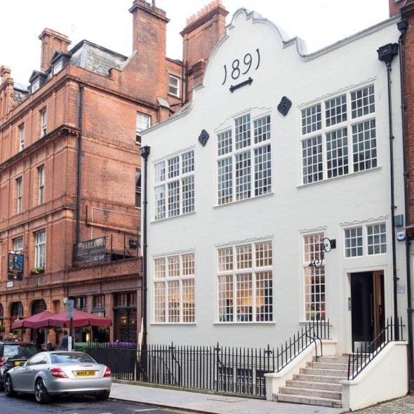The New Craftsmen's building in Mayfair
