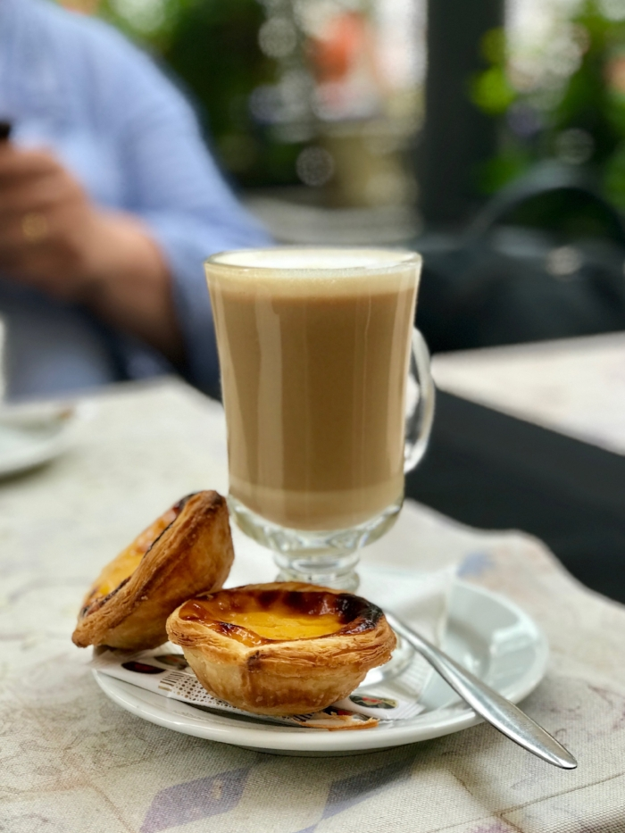 good coffee and pastel de nata in Lisbon