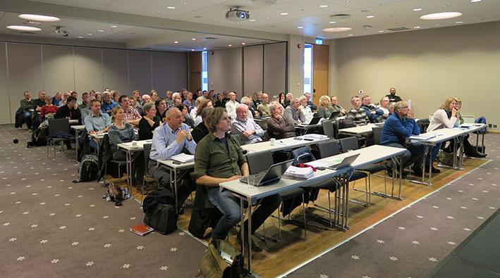 Oppslutningen om plankonferansen på Oppdal var meget god, med over 90 påmeldte deltakere. Foto: Arne Nyaas