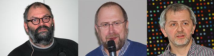 Fra venstre: Prosjektleder Trond Stensby, møteleder og ordfører i Oppdal, Ola Røtveiog Bjørn Rangbru fra Fylkesmannen i Sør-Trøndelag. Foto: Arne Nyaas