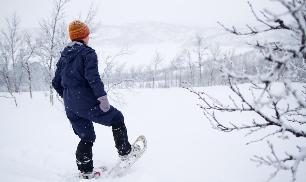 Spennende og lærerik trugetur på Skinnarbu i vinterferien! Foto: Guro Lien.
