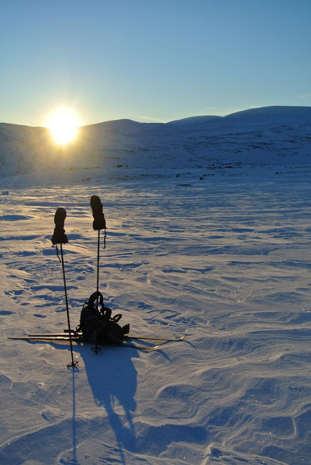 På skitur i vinterfjellet. Foto: Anita Nerhoel