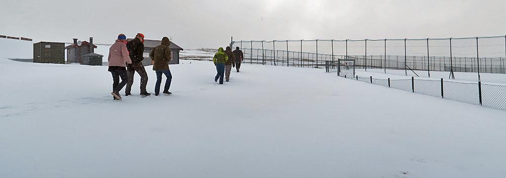 Fra befaringen på Sæterfjellet avlsstasjon. Foto: A. Nyaas