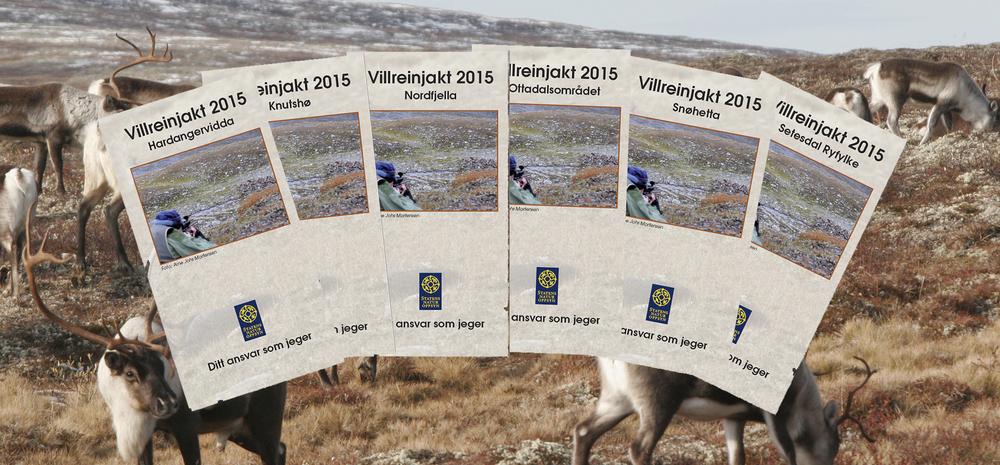 Åretsfoldere for villreinjakta er klar. Foto: Anders Mossing/Arne Nyaas
