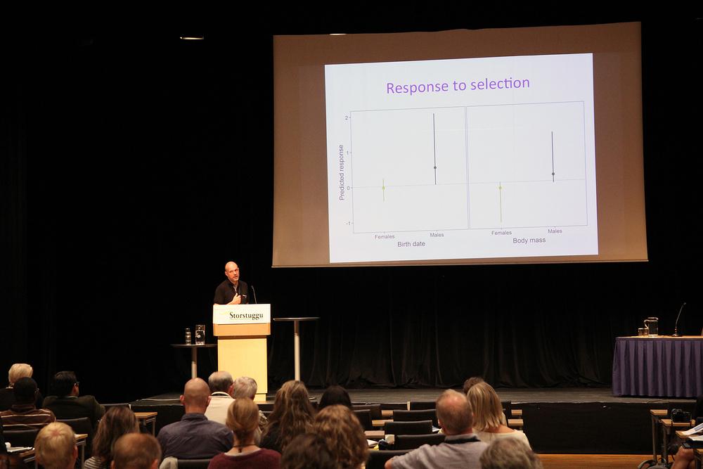 Professor Bernt-Erik Sæther fra NTNU tok for seg aldersavhengige komplikasjoner knyttet til forvaltning av klovdyr.