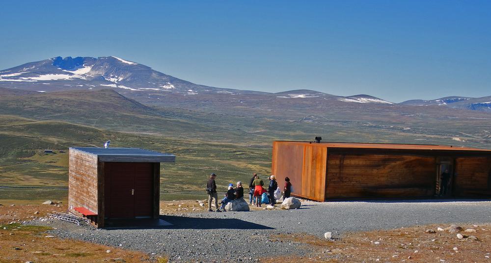 """""""viewpoint Snøhetta"""", det flotte anlegget med utsikt mot Snøhetta. Foto: Tor Punsvik"""
