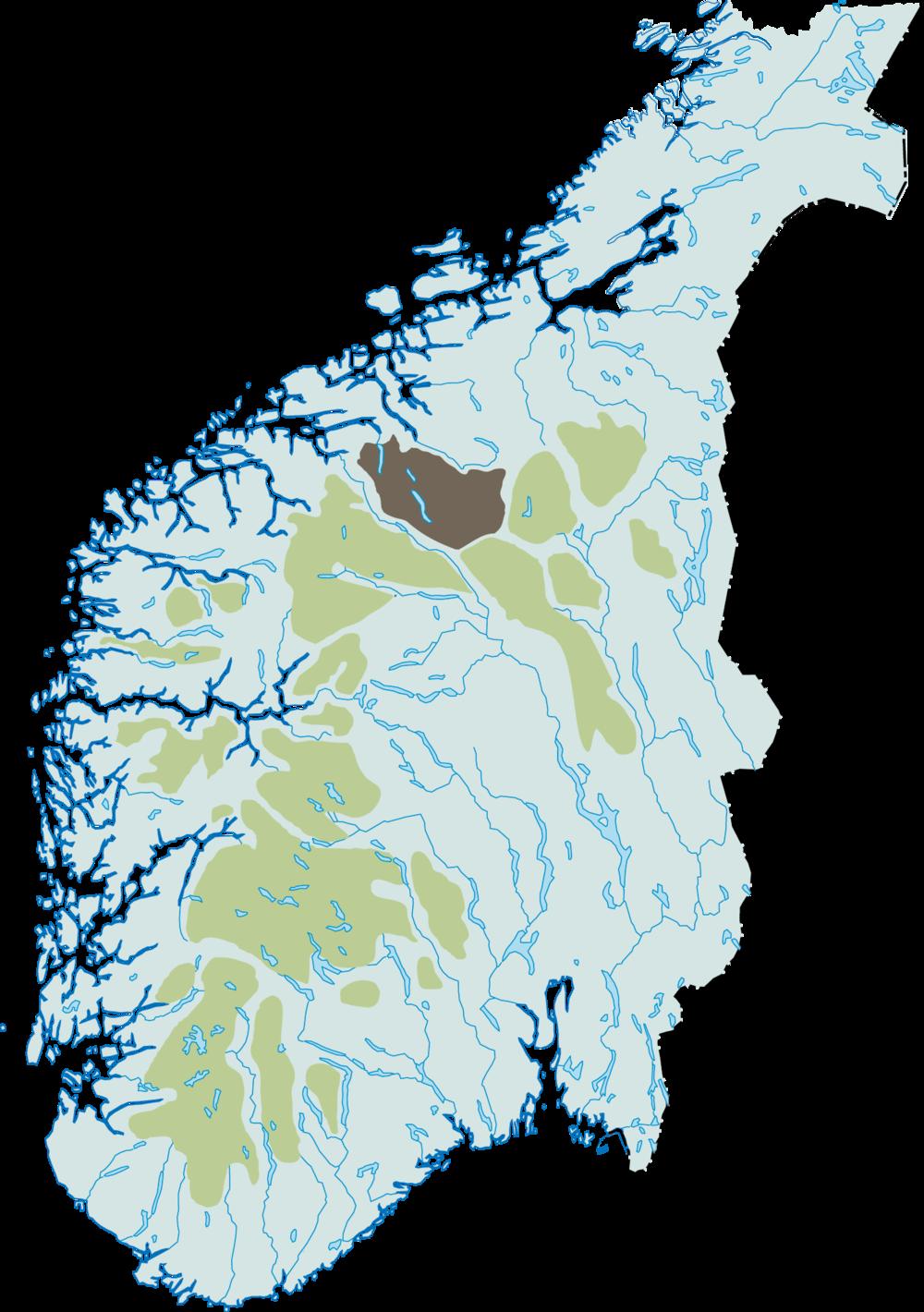 kart snøhetta Snøhetta — Villrein.no   alt om villrein kart snøhetta