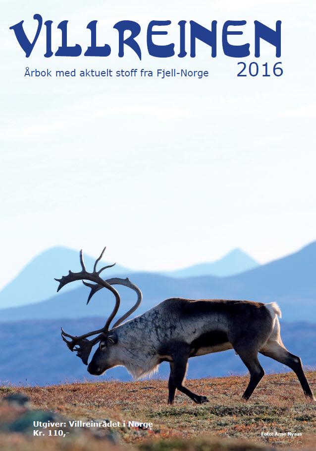 """""""Villreinen 2016"""" er klar for salg/distribusjon fra 1. juni. Årets utgave er nummer 31 i ei ubrutt rekke siden førsteutgaven i 1986. Foto forside: A. Nyaas"""