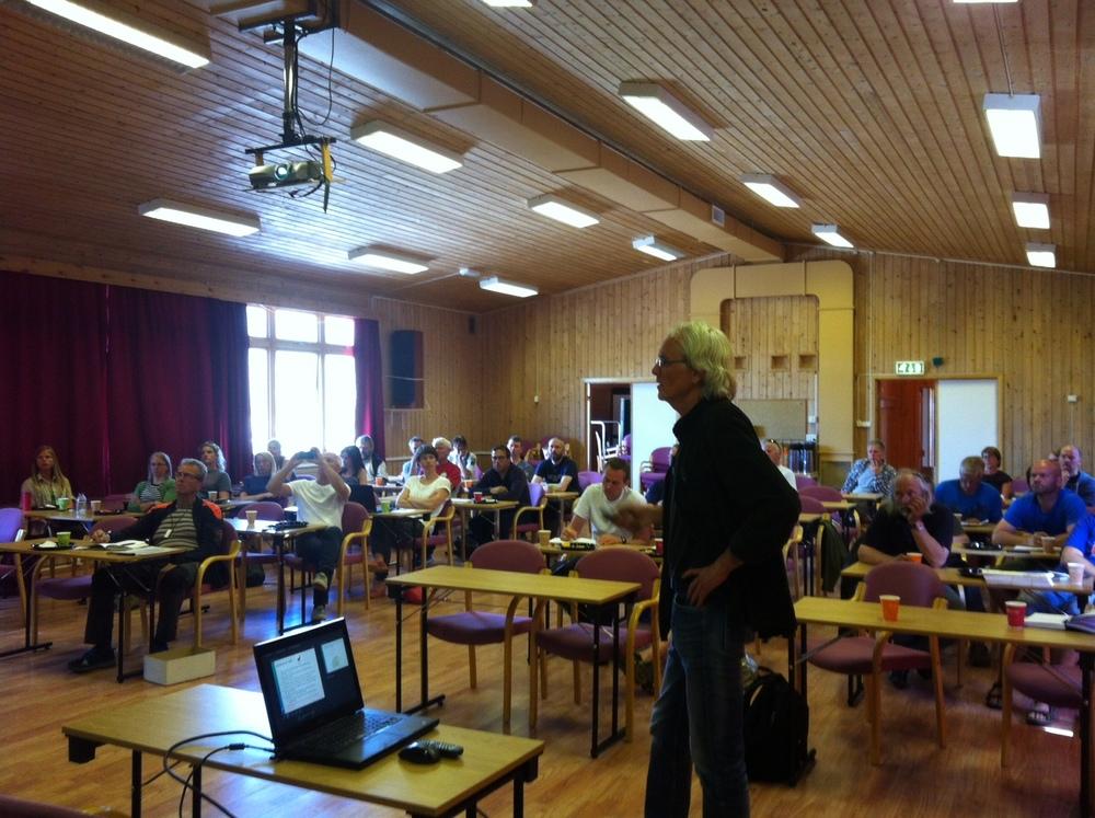 Kjell Handeland fra Veterinærinstituttet fortalte om CWD.