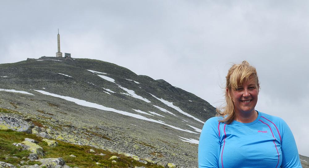 """Årets """"Gaustaguide"""" Vilde Starup er klar for mange flotte turer til Gaustatoppen. Foto: Marianne Singsaas"""