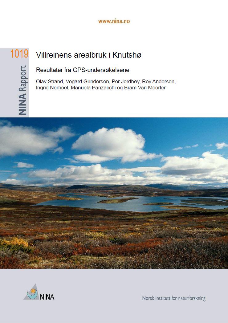 Sluttrapport for FoU-prosjektet i Knutshø villreinområde. Trykk på rapporten for å laste ned.