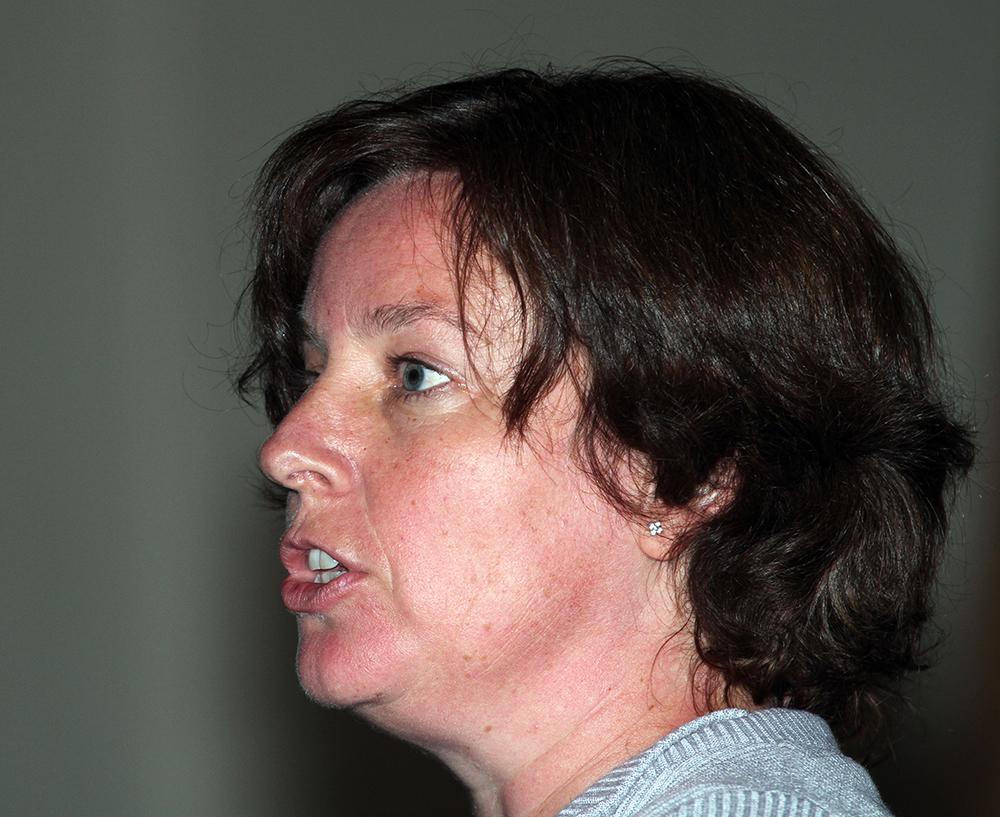 Julie Grimstad, veterinær i Mattilsynet, med særskilt ansvar for dyrehelse. Foto: A. Nyaas
