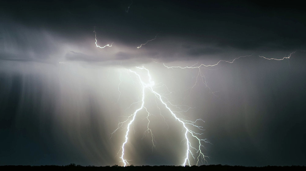 Ifølge Meteorologisk institutt var det 63 000 ampere i lynnedslaget som tok livet av 323 villrein på Hardangervidda. (Illustrasjonsfoto).