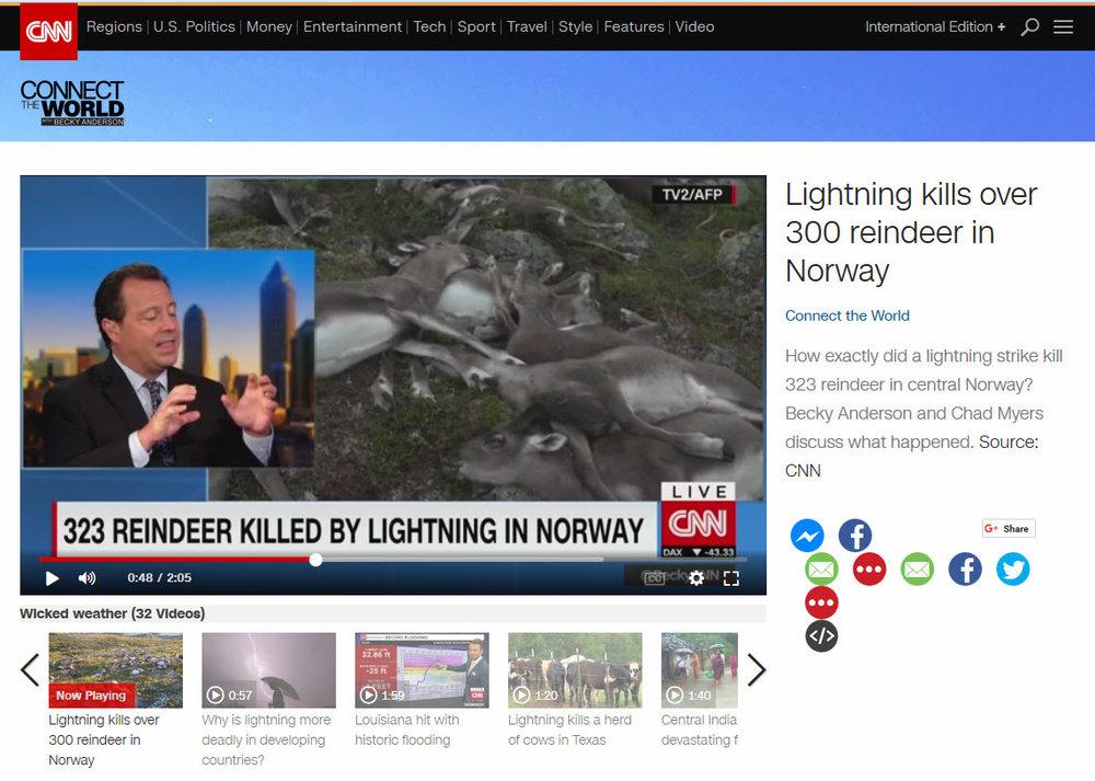 Lynnedslaget som tok livet av 323 villrein på Hardangervidda, skapte interesse verden over. Et søk på Google gir over 1,2 millioner treff.