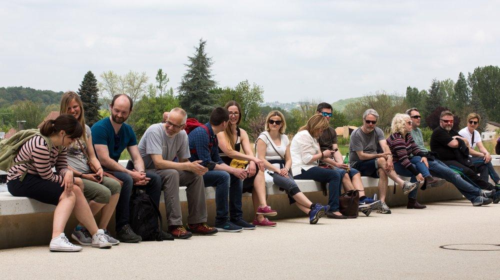 Delegasjonen på studietur til Vézère-dalen. Foto: Kjell Bitustøyl