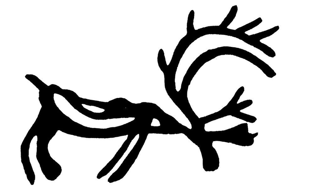 Illustrasjon: Frå dekor på ei samisk runebomma