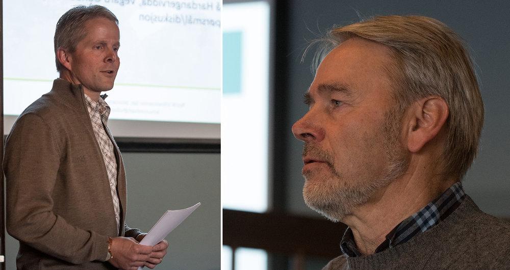 Endre Lægreid (tv) og Vemund Jaren. Foto: Kjell Bitustøyl