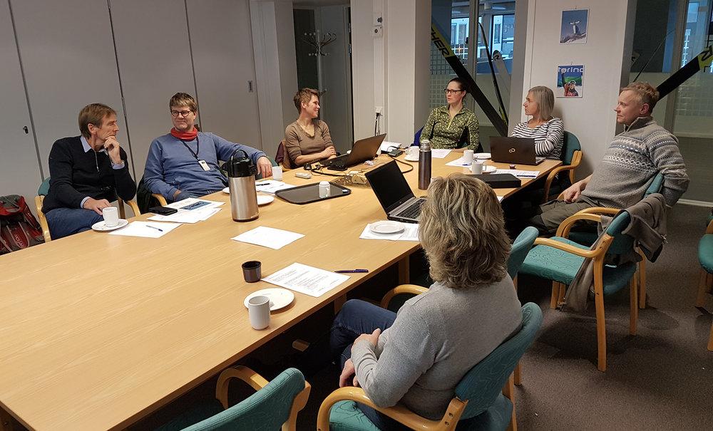 Styringsgruppa hadde sitt første møtet i starten av desember. Foto: Anders Mossing