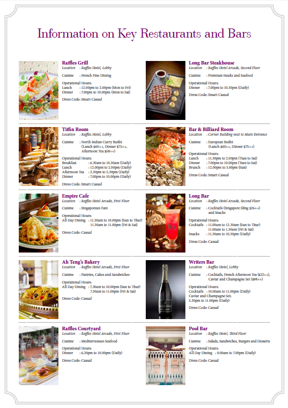 There are many F&B options within the hotel itself, perfect for any occasion