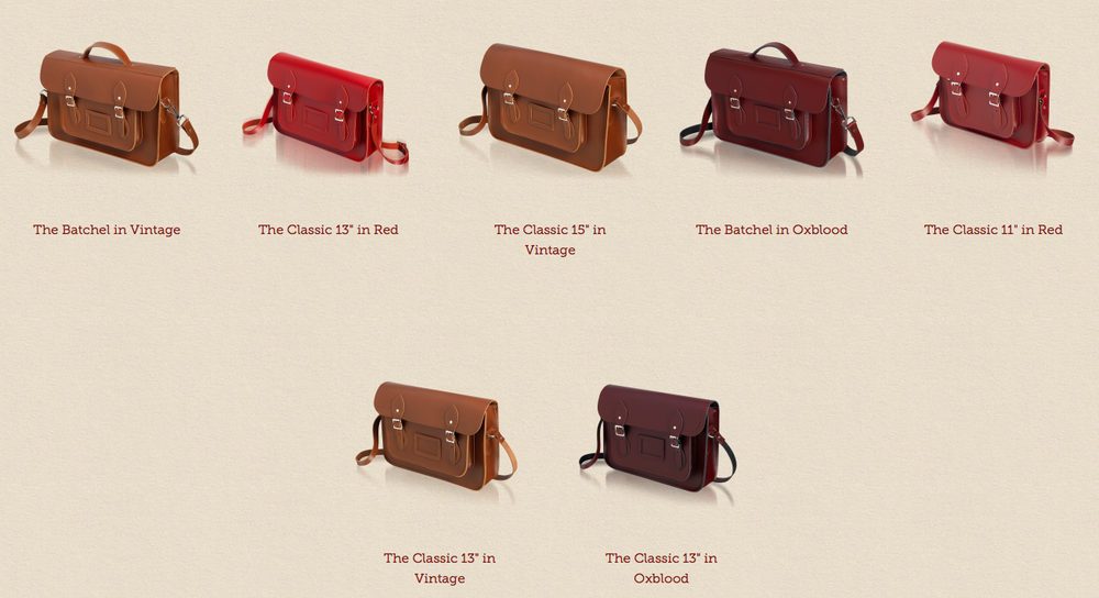 The best sellers in hues of reds and browns.