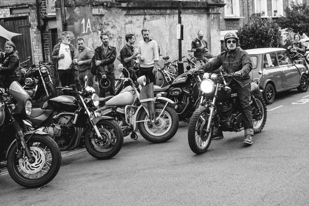 custom motorcycle retro sr500