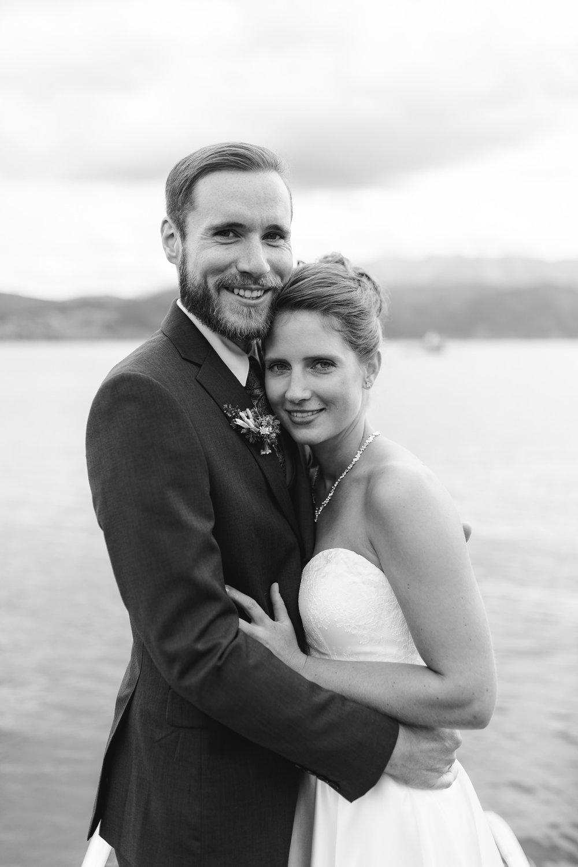 Brautpaar Attersee Hochzeit Standesamt See Berge