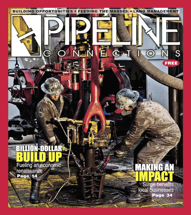 THE ARCHIVES This is it! This is what started it all – our premiere issue. Launched in the spring of 2013, Pipeline Connections magazine hit the ground running with the area's only high-glossy colored magazine covering the local oil and gas development. The first edition set the tone for what was to come featuring great local stories, intriguing photography, and excellent print quality. The premiere issue featured a dramatic cover photo showing two rig hands from Nomac Drilling operating on location in eastern Ohio. The rest is history!