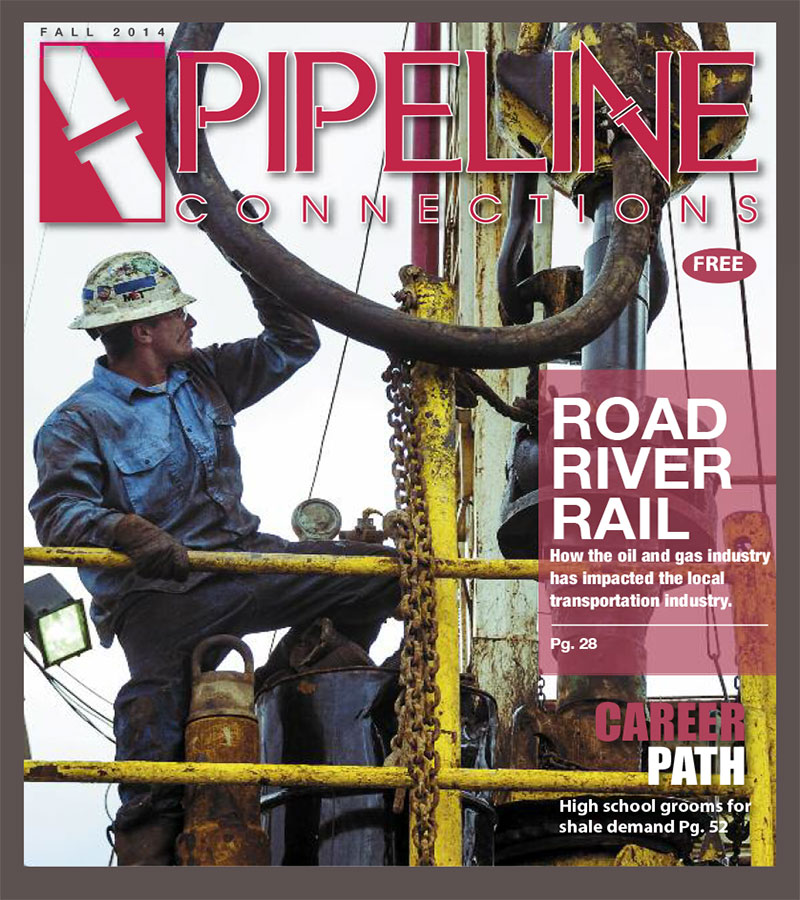 FALL 2014 Our last issue in 2014 was one of our largest to date. In it we take a look at the impact the oil and gas industry is having on the transportation industry whether it be road, river or rail. We also spend a day with a group of high school students from the Utica Shale Academy as they tour various industry sites while learning what it takes to work in the field. And finally, we tag along with Joe Baumgardner, who is the president of Joe Safety, as he performs safety checks at local oil and gas facilities.
