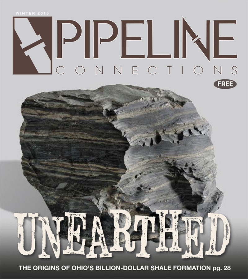 WINTER 2015 The first edition of 2015 covers the origins of Ohio's Utica shale. In addition, we head back up into the sky to get stunning bird's eye views of the updates happening at area oil and gas processing facilities. Also, while Ohio and Pennsylvania appear to be the big winners in oil and gas exploration, the panhandle of West Virginia is proving to be a major player in shale development.