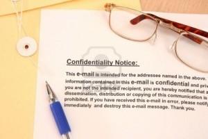 el aviso de confidencialidad la excusa de los torpes