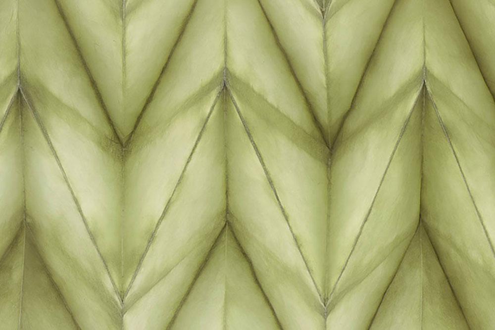 Folded Paper: Olive