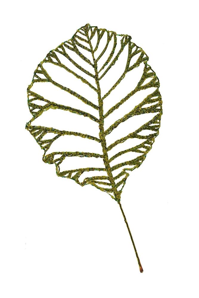 Beaded Smoke Tree Leaf