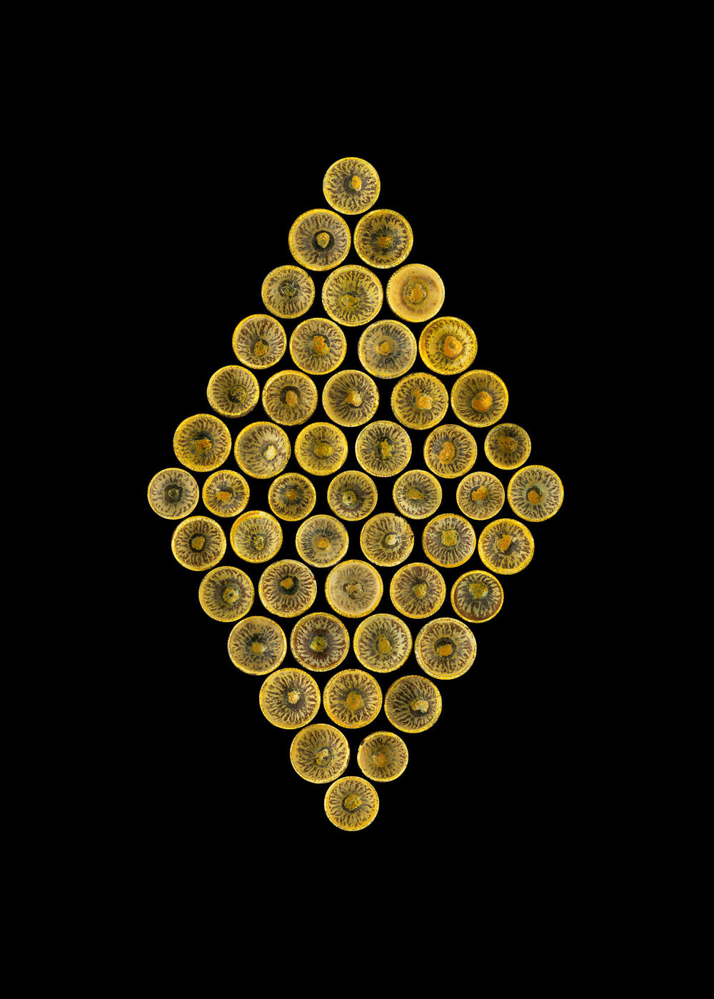 Acorn Caps Gold