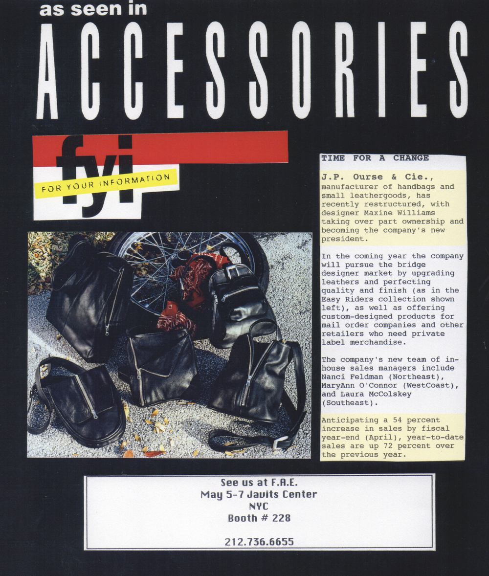 Write up in Accessories Magazine