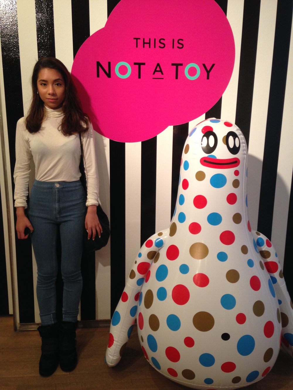 Date with the teen at the Design Exchange art installation of THIS IS NOT A TOY