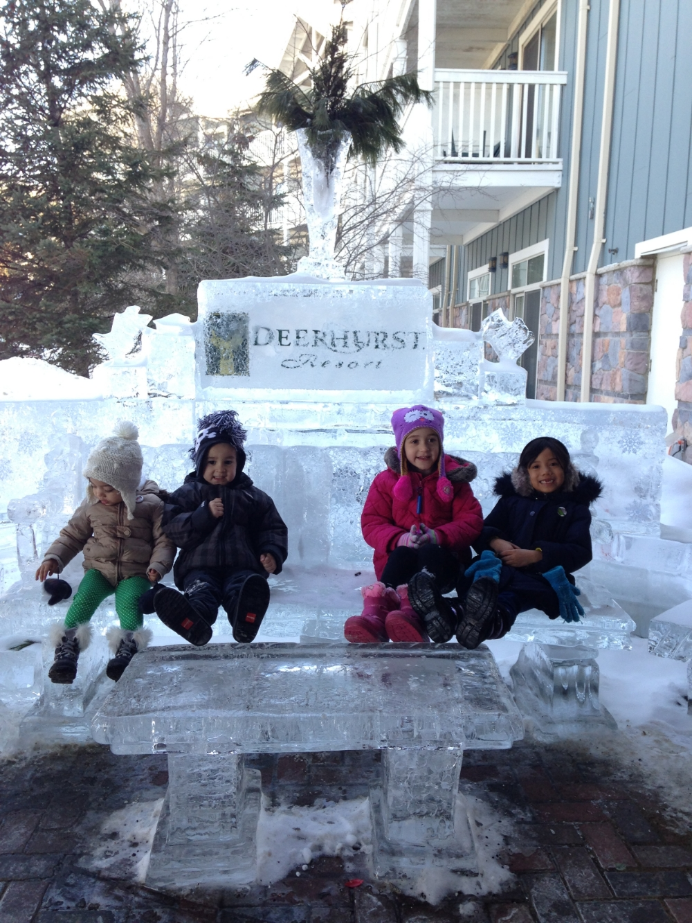 Walked to the DeerHurst Resort Main building for swimming and March break activities