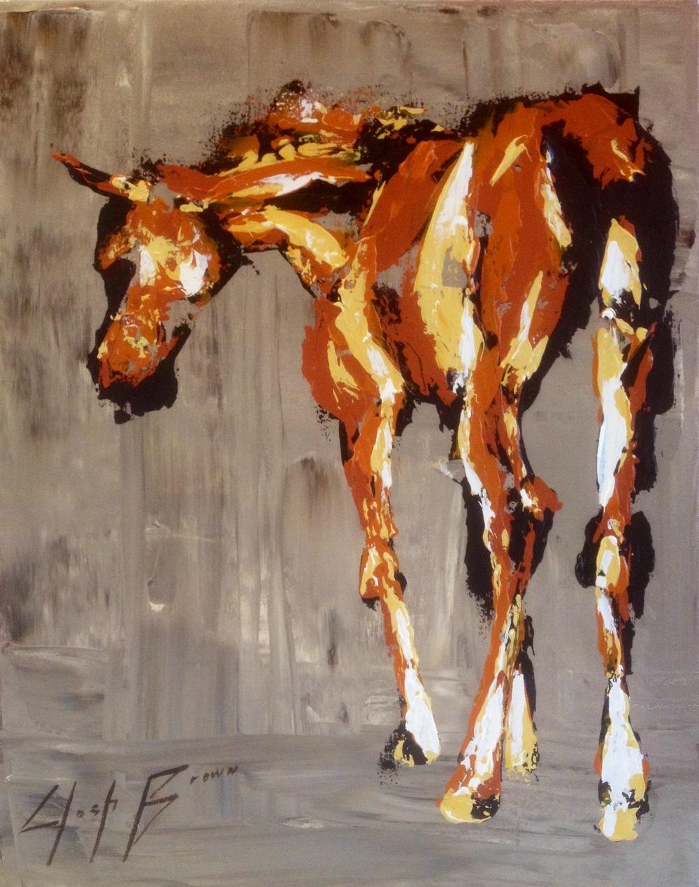 Horse on Grey, 18x24