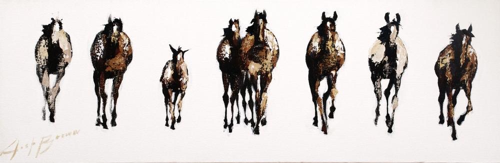 Horse Running, 8x24